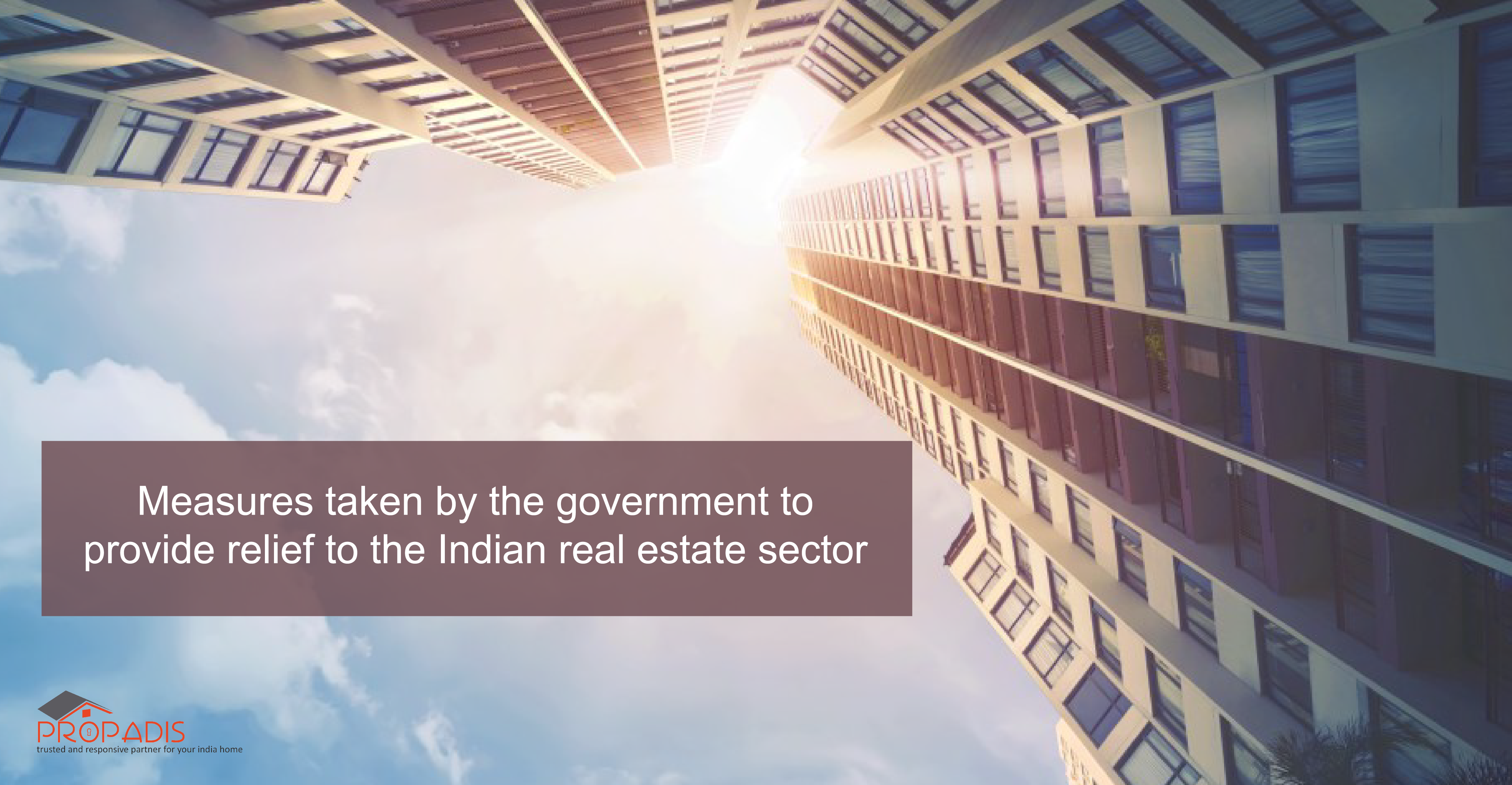 Measures taken by the government to provide relief to the Indian real estate sector-01